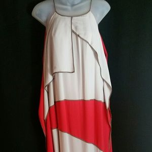 BCBG MAX AZRIA RUNWAY silk dress sz L